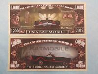 1966 BATMAN TV Bat Mobile ~ $1,000,000 One Million Dollar Bill United States USA