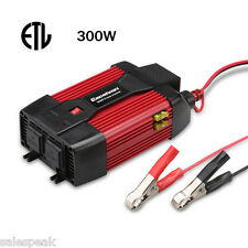 300W Car Truck Power Inverter DC 12V to AC 110V +USB Port Dual AC Outlet New US