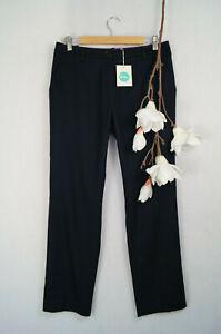 Boden-Hose-Damenhose-Stoffhose-Wolle-Elegant-7-8-Laenge-NEU-Buero-UK-12-EU-40