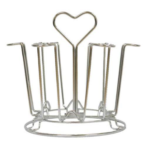 Stainless steel Heart Cup Hanger Kitchen Organizer Drying Holder Mug Cups Rack