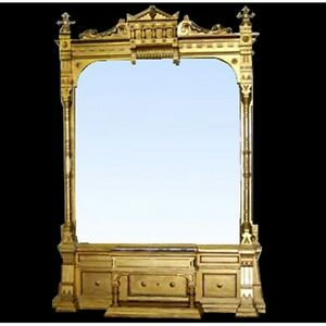 Monumental-American-Victorian-Giltwood-Hall-Mirror-6793