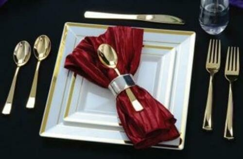 Formal or Wedding Golden Gold Secrets Plastic Spoons 25 Pack