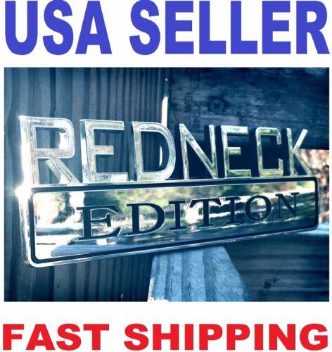 REDNECK EDITION emblem FIAT CAR TRUCK DATSON peugeot logo DECAL ornament sign ..