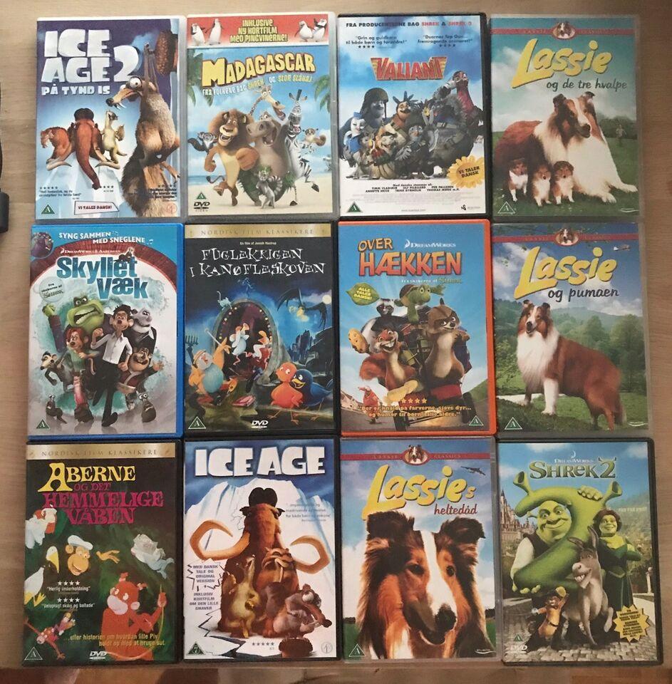 Børnefilm familiefilm, DVD, andet