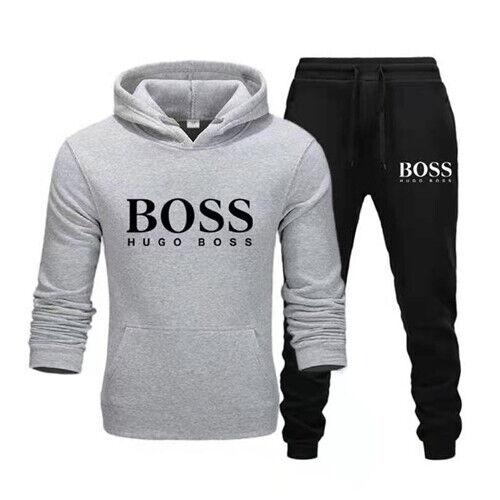 Mens 2Pcs Tracksuit Set Jogging Hoodie /& Bottoms Gym Sports Joggers Sweatshirt