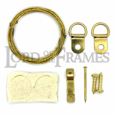 25X SINGLE TRIANGLE D RINGS FRAMING HANG HANGING PICTURE FRAME PHOTO CANVAS UK