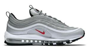 b957593a1e 884421-001 Nike Air Max 97 OG QS Silver Bullet Men's Sneakers Shoes ...