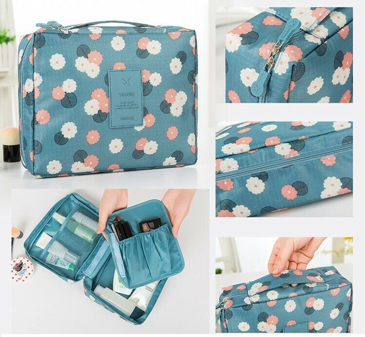 Travel Cosmetic Makeup Storage Bag Toiletry Case Hanging Wash Organize... - s l1600