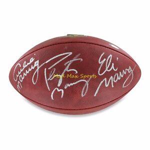 ARCHIE ELI PEYTON MANNING Triple-Signed NFL Duke AUTHENTIC Football ... 5c4d57136