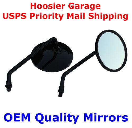 """Honda V65 V45 CB900 CB750 Black 4/"""" Round Motorcycle Mirrors"""