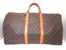 Authentic LOUIS VUITTON Monogram Keepall Bandouliere 60 M41412 Boston Bag FH0920