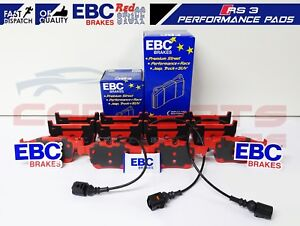 FOR-AUDI-RS3-8V-2015-FRONT-REAR-HIGH-PERFORMANCE-EBC-RED-STUFF-BRAKE-PADS-SET