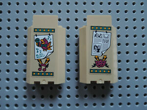 Wall Panel 3x3x6 2 Stück Lego Castle-City in Dunkel Rot 87421