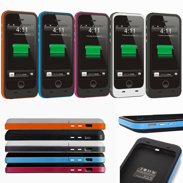 3800mAh iPhone 6 6s External Battery Backup Charging Bank Power Case Cover