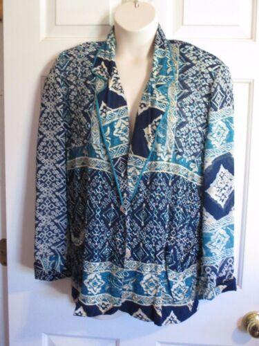Nwt S rayures à à et motifs bleues blanches Blouse Surya de taille pour motifs femmes qYOTw6y1x