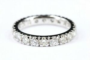 Memory Ring 750 Diamant 18K Weißgold 20 Brillanten 1,87ct VS1-SI1 H-I Größe 54