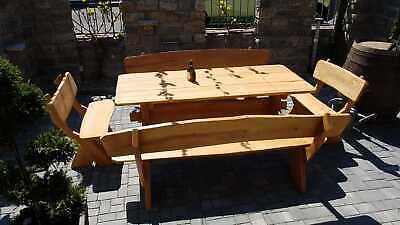 Massivholz Sitzgruppe 2m Sitzgarnitur Gartenmöbel Gartengarnitur Holz Rustikal Ebay