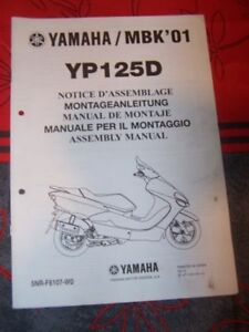 23 - Notice/manuel Montage/assemblage Supplement Yamaha Scooter Yp125d Yp 125 D Owqjqpgd-08003311-399056022