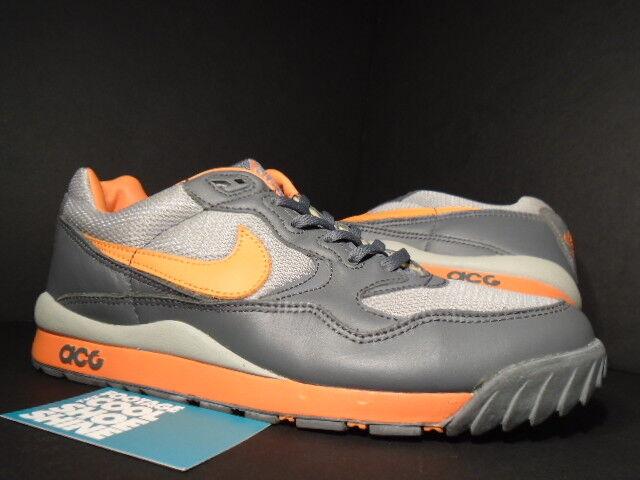 2003 Nike Dunk AIR WILDWOOD ACG GRAPHITE COOL grau SOLAR Orange MAGNET Sz 11 9.5