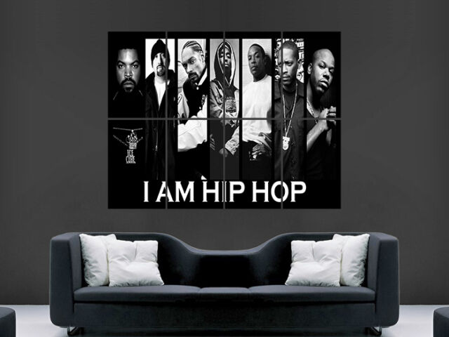 HIP HOP MUSIC LEGENDS TUPAC ICE CUBE SNOOP ART IMAGE HUGE  LARGE PICTURE POSTER