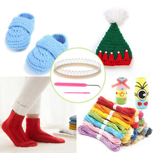 3Pcs Weaving Sock Knitting Loom Crafts Tools Sock Scarf Hat Weaver Needle Sew WQ