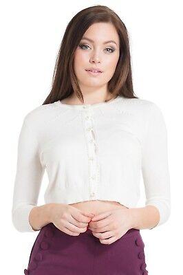VOODOO VIXEN Lydia tropical bird wing sleeve Vintage Cardigan Top caa3063 UK8-16