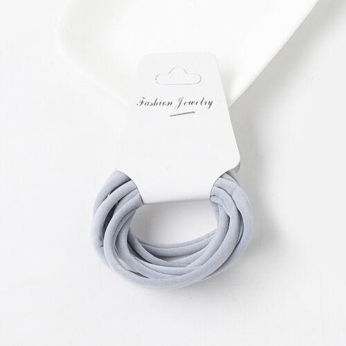 Satz Hoch Elastisch Basic Gummibänder Einfach Nahtlos Haar Ring Tie Seile 6Pcs
