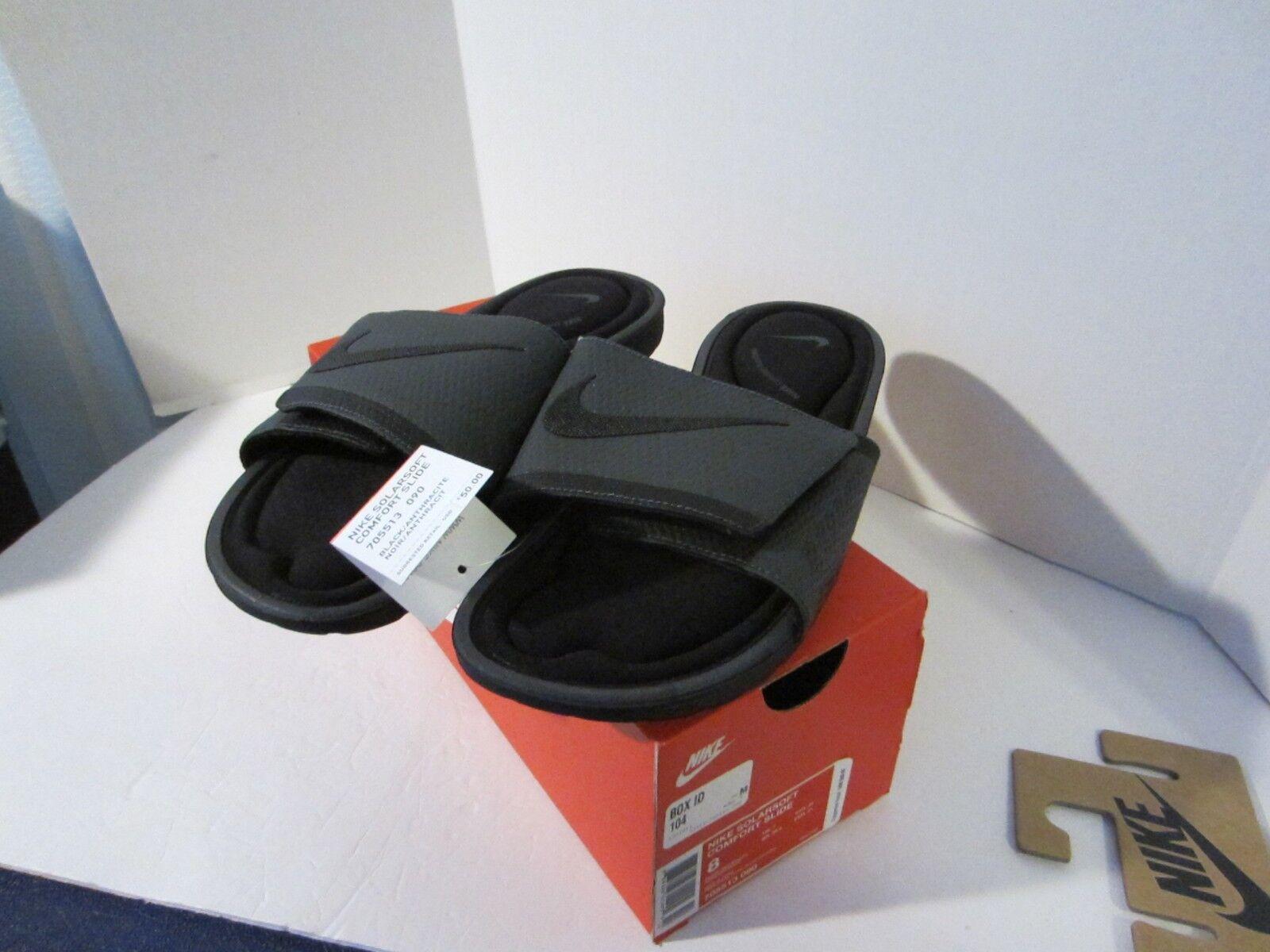 05ed6832a4b Mens Nike Solarsoft Comfort Slide 10 Black Flip Flop Sandal 705513 090 for  sale online