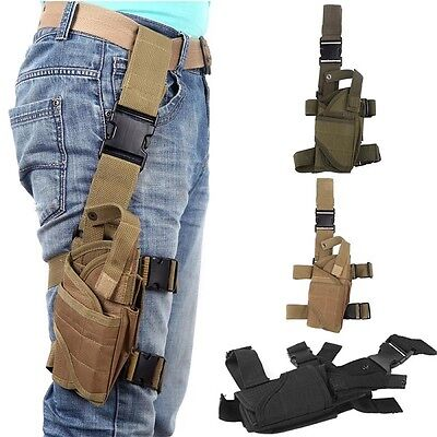 Polyester Right Thigh//Leg Pistol Gun Holster Pouch Hunting,Camping,survival