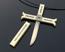 One Piece Hawk-Eye Dracule Mihawk Cosplay Kogatana Cross Sword Pendant Necklace