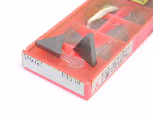 MITSUBISHI  TPG  321  GRADE NEW SURPLUS 10PCS HTi10  CARBIDE INSERTS