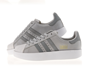 Image is loading ADIDAS-WMNS-SUPERSTAR-BOLD-PLATFORM-SHOES-CG3694-GREY-