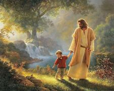 Jesus Walking With Child / Christian 8 x 10 / 8x10 GLOSSY Photo Picture
