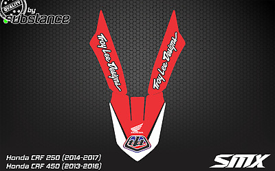 CRF 250 CRF450 front fender sticker decal graphics 2013 2016 2014 2015 Honda CR