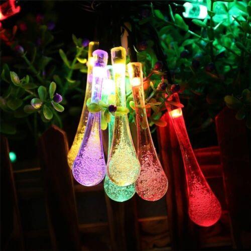 Solaire 30LED Jardin chaîne de lumières de fées de Noël extérieur jardin fête Drop