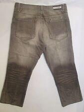 Evolution In Design Jeans Men's Baggy Brown Measures 40X Hemmed 27 Inseam #945