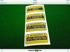 4x GPS TRACKING DEVICE STICKERS DECALS (AWESOME FOR COMPUTERS AND IPADS)