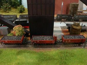3er Set Offene Güterwagen von Tillig