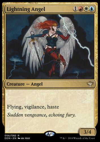 LIGHTNING ANGEL NM mtg Speed vs Cunning Gold Creature Angel Rare