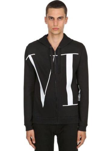 Nueva M negro cremallera para cremallera logo con medium chaqueta algodón con hombre de Valentino de Vltn de rq7wxXErng