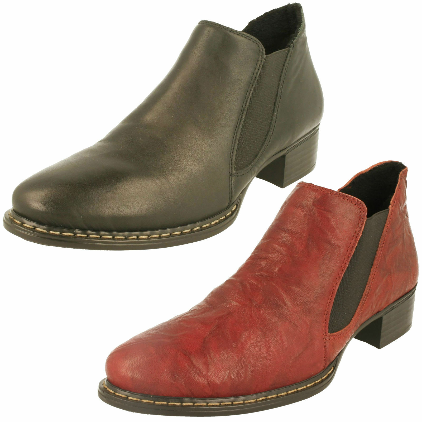 Ladies Rieker Ankle Boots - 53680
