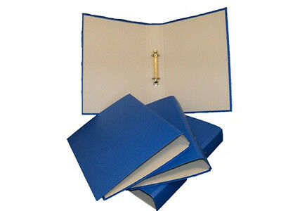 5x A4 Presentation Ring Binders Files Folders BLUE Document Storage Wallets