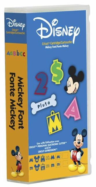 Cricut Disney MICKEY FONT 290381 Cartridge NEW & SEALED IN PACKAGE htf RETIRED