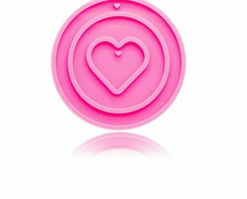 Silicone Mould Christmas Decoration Circle and Love Shape DIY Epoxy Resin Mold