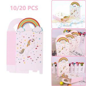 20x Paper Unicorn Bag Candy Box Treat Gift Loot Bags Kids