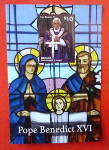 2014-St-VINCENT-POPE-BENEDICT-BEQUIA-STAMP-MINI-SHEET