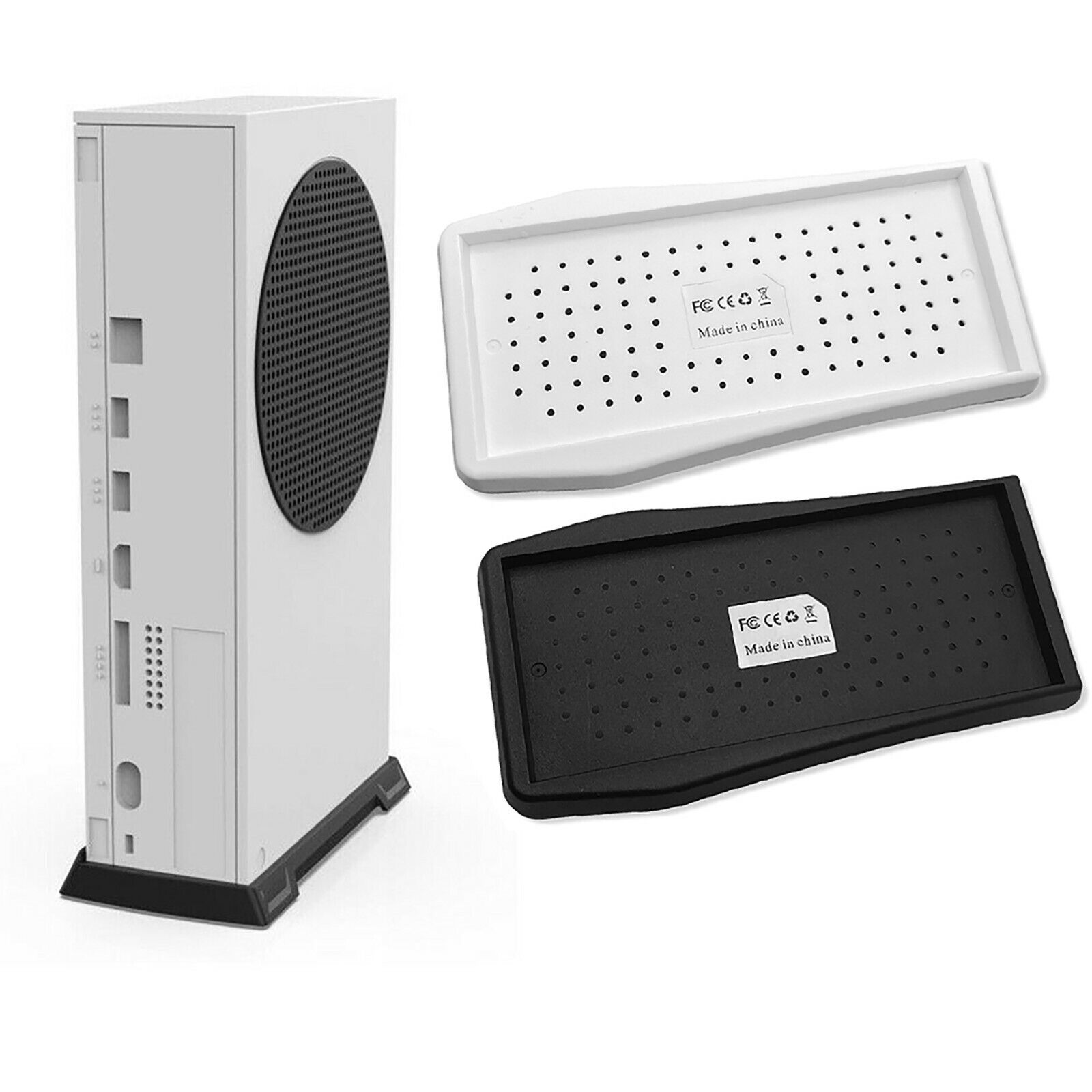 Vertical Stand with Built-in Cooling Vents for Xbox Series S Console Accessories