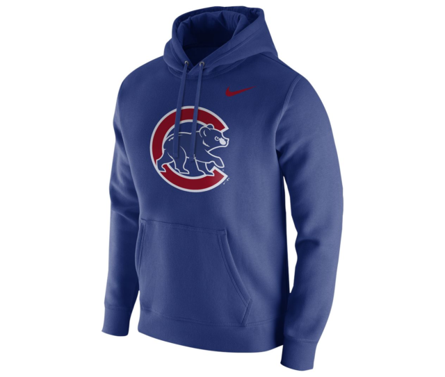 the latest bcea0 083c9 Nike MLB Chicago Cubs Club Fleece Logo Pullover Hoodie 37270x Men's Size  Medium