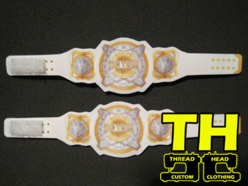 NO FIGS OR SHIRTS INCLUDED 2 WWE Tag Team Women/'s Custom Titles ONLY