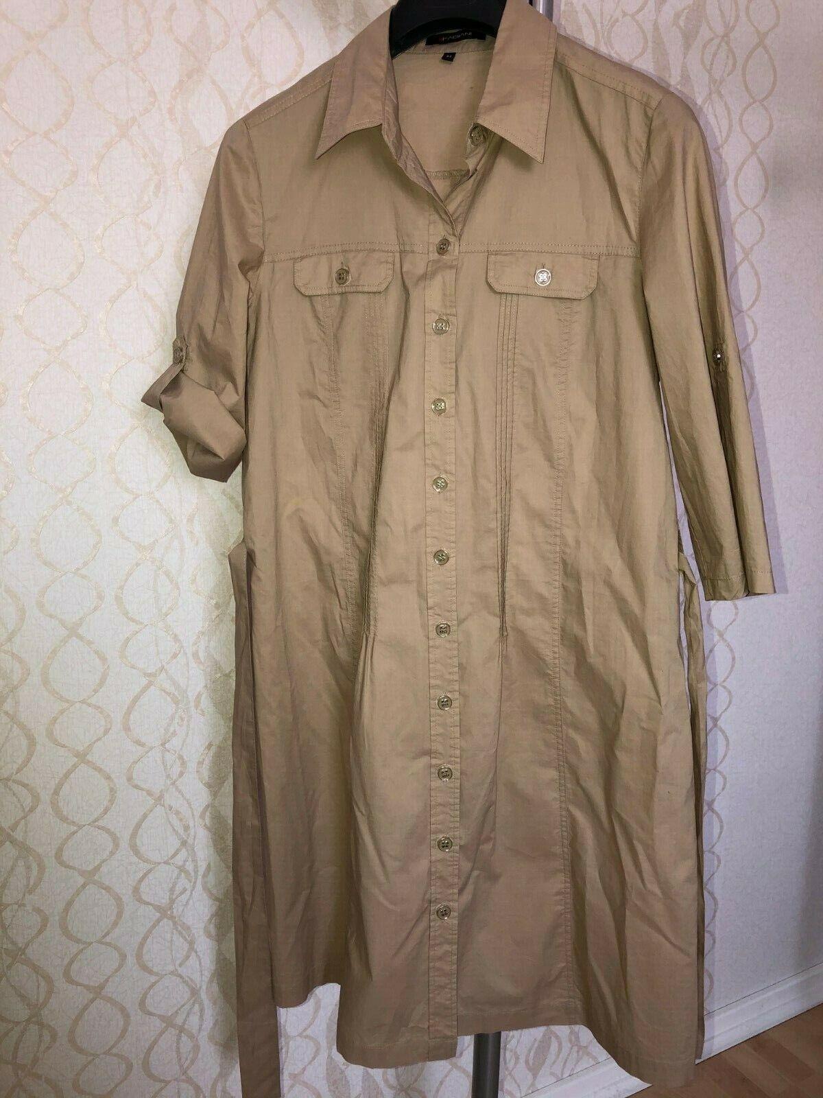 Fabiani Kleid Hemdkleid Gr. 44 Baumwolle